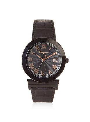 -64,800% OFF Salvatore Ferragamo Men's F71LBQ6809 S009 Grande Maison Black Leather Watch