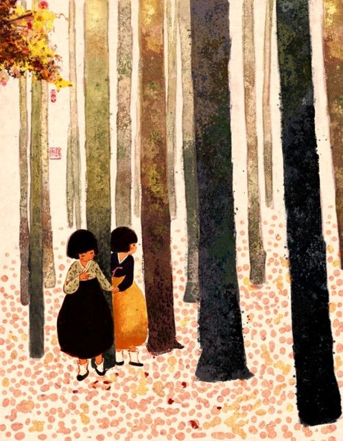 Si You (tjsiu): Art Illustrations, Art Paintings, Korean Art, Art Journals, Forests Girls Illustrations, Wall Prints, Storybook Children, Asian Art, Korean Illustrations