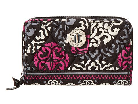 Vera Bradley Turn Lock Wallet Canterberry Magenta - Zappos.com Free Shipping BOTH Ways