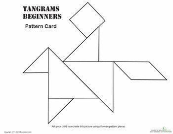everyday math pattern block template - 20 best tangran images on pinterest tangram printable
