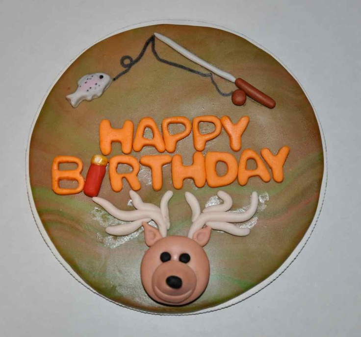 Hunting+and+Fishing+Cake+Topper+Edible+6+by+LadyCupcakesCorner,+$19.95