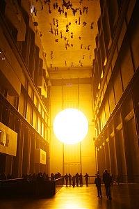 Olafur Eliason. The weather project.  Tate Modern