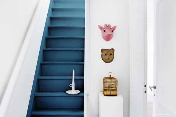 het Dijkhuisje | Trap verf ideeën | http://www.hetdijkhuisje.nl