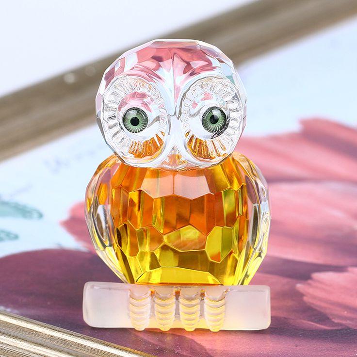 2.7 ''Glas Crystal Cut UIL Beeldjes Presse-papier Ambachten Art & Collectie Tafel Auto Ornamenten Souvenir Thuis Bruiloft Decoratie