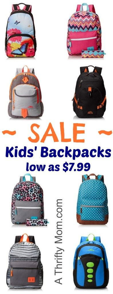 Get these before school starts and the price goes back up! Kids Backpacks On Sale