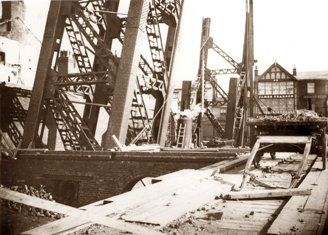 Early days in the construction of Blackpool Tower c1891-2.