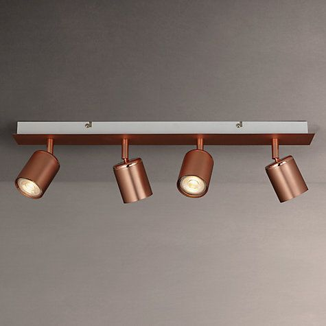 Buy John Lewis Mode GU10 LED Spotlight Bar, 4 Light, Copper Online at johnlewis.com