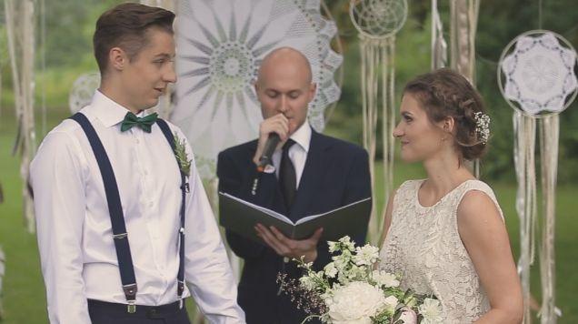 Ślub humanistyczny w stylu boho - film ślubny, produkcja Czarodzieje Wspomnień