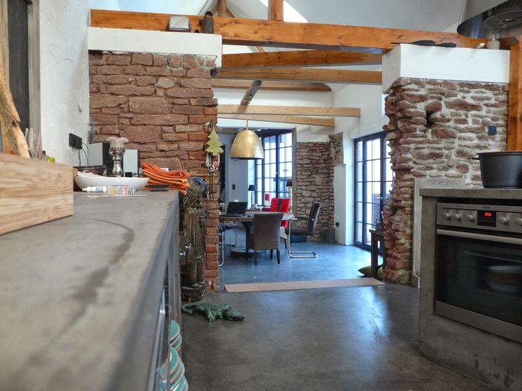 42 best Beton Ciré - LifeBoXX images on Pinterest Wand, Live and - arbeitsplatte küche beton preis