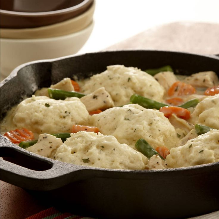 Sage, rosemary, thyme and parsley season classic chicken and dumplings deliciously.