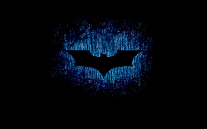 Download wallpapers 4k, Batman logo, darkness, creative