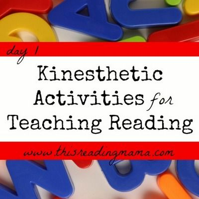 Kinesthetic Activities for Teaching Reading.  Many of these are geared for younger learners, but I could utilize a few of the ideas.