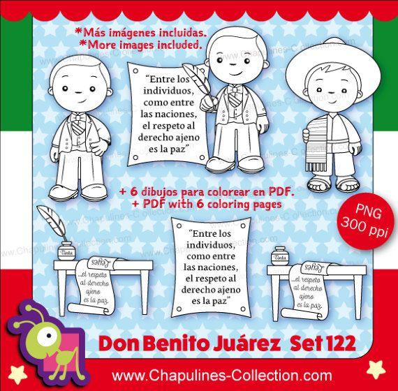 60% de desc. Clipart Benito Juárez en por ChapulinesCollection
