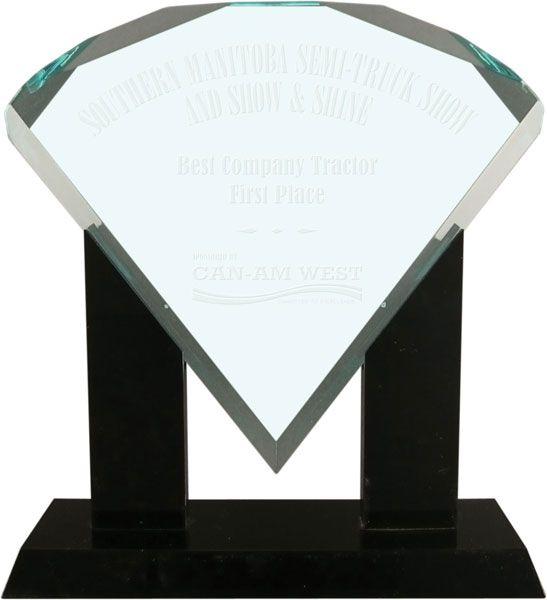 Jade Diamond Acrylic Award