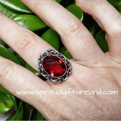 Handcrafted Red Garnet 925 Ring (2) Visit our store at www.spiritualgiftsireland.com  Follow Spiritual Gifts Ireland on www.facebook.com/spiritualgiftsireland www.instagram.com/spiritualgiftsireland www.etsy.com/shop/spiritualgiftireland  We are also featured on Tumblr