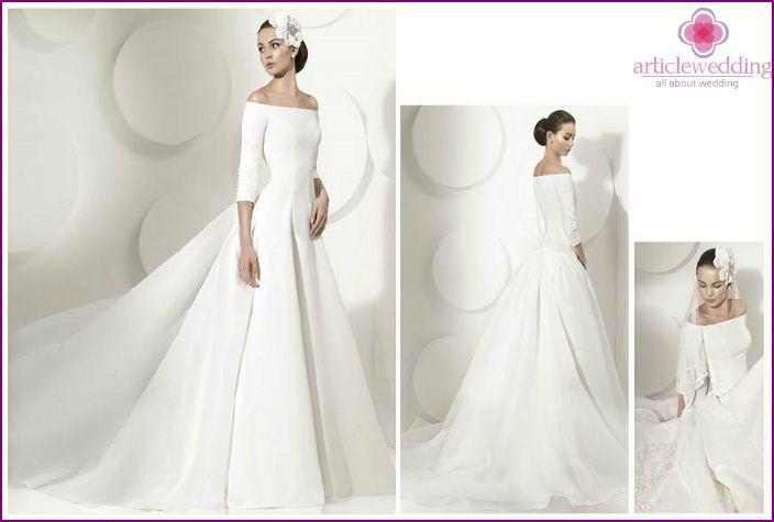 Hodvábne svadobné šaty: krásne modely a štýly