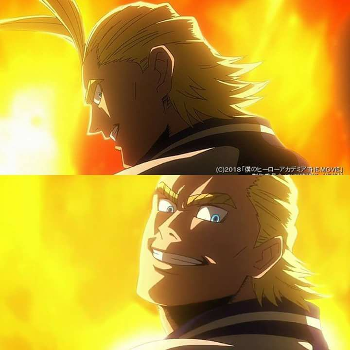 All Might Without The Dark Shadows In His Face Ctta Anime Art