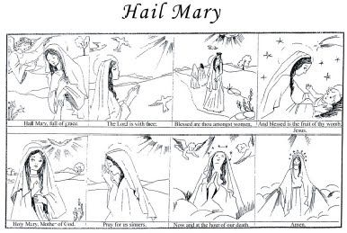 Hail Mary Prayer Printable | Free Mary Printables for Kids