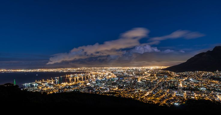 """""""Cape Town by night"""" has been published on Pascal Parent Photos  More information at http://wp.me/p4WBG2-n4 Lately, I have been attracted to night lights, I was down in the fair city of Cape Town and planned to shoot for the top of Signal Hill, which as this photo and the next 2 will profess, I did. This was not without some challenges. Little di I know it was going to be freezing up there, I had a jacket but nothing to cover my ears, this resulted in an unpleasant experien"""
