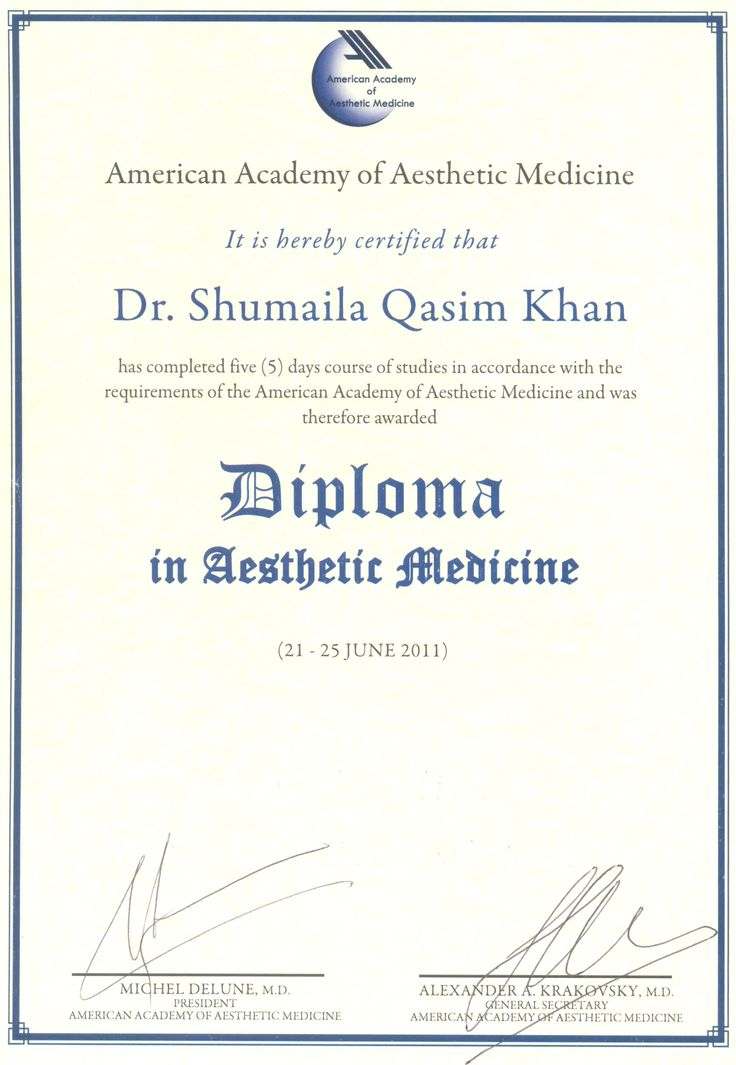 11 best Dermatologist Dr Shumaila Khanu0027s Awards, Achievements - medical certificate from doctor