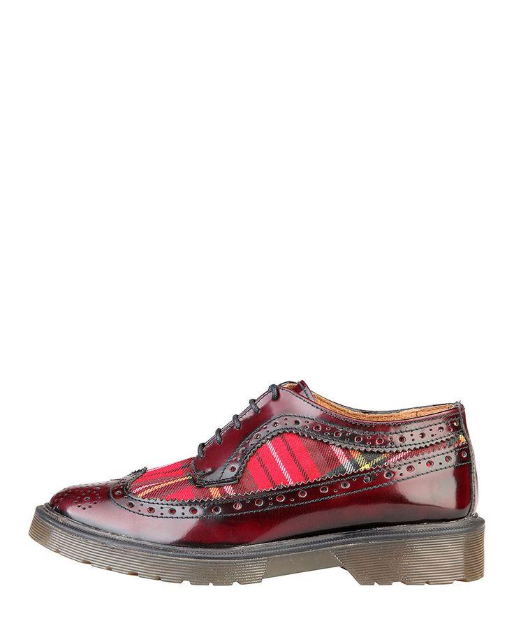 Ana lublin scarpe donna - collezione autunno/inverno 2014/2015 - made in italy - scarpa inglesina allacciata bicolore -  - Stringata donna margareta Rosso