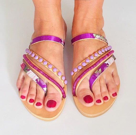 "Handmade Leather Strappy Sandals ""Bali"", Boho Sandals, FREE SHIPPING"
