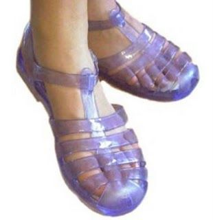 Jelly shoes - Totally 80s but my mom never bought me a pair!