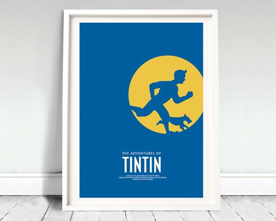 Exclusive 12x16 inch movie poster inspired by TinTin Crafted by David OMara from Archive  Artwork is professionally printed on 130gsm uncoated