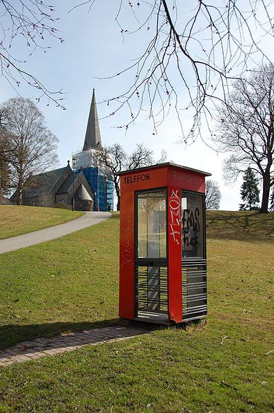 Scandinavian design inspiration - Telephone Kiosk by Georg Fredrik Fasting, Norway