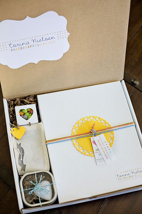 Beautiful way to deliver your finished product to clients.  Crafty, personal, and company branding all rolled into one!