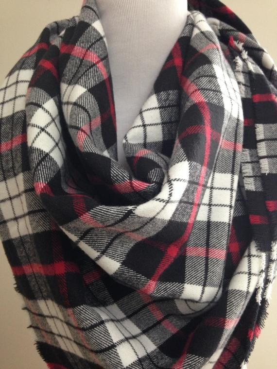 Diy Blanket Scarf Black And White Plaid Blanket Scarf Kit Diy