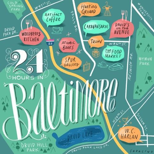 24 Hours in Baltimore, with Andrea Pippins of Fly Girl #baltimore #travel #maryland