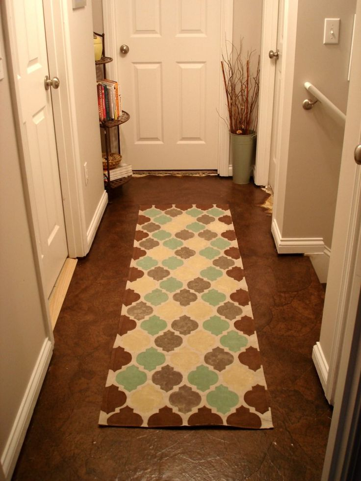 A Stenciled Drop Cloth Rug