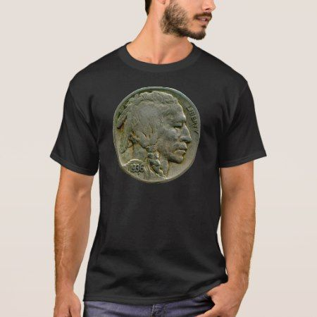 1936 US 'Buffalo' nickel heads t-shirt - click to get yours right now!