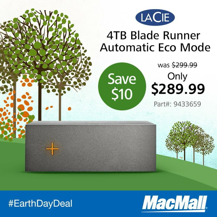 Macmall Earthday Deal Conserve 75 More Electicity And 10 On A Lacietech 4tb Drive External Hard Drive 10 Things Earth Day