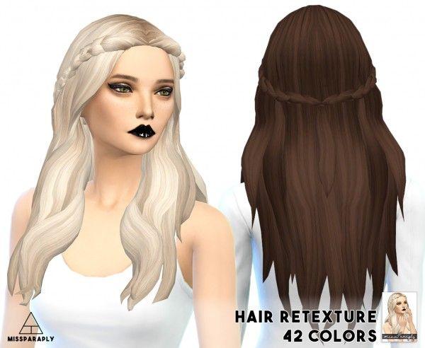 Miss Paraply: Hair retexture - Kiara24 Sensitive - 42 colors • Sims 4 Downloads