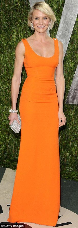 I like what Cameron wore to the Vanity Fair party. Victoria Beckham.  cool.