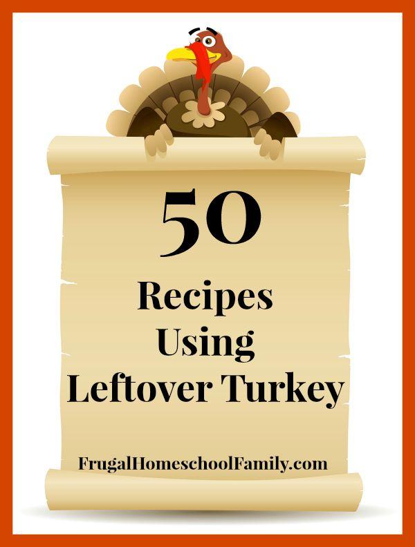 50 Recipes Using Leftover Turkey - Frugal Homeschool Family
