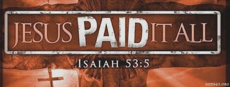 Jesus PAID Itall Isaiah 53:5 | Christian Facebook Cover