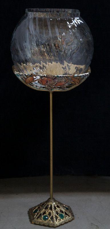 103 best vintage fish tank aquarium images on pinterest for Fish bowl stand