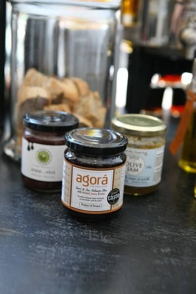 All about olive oil & olives www.agorafinefoods.com  Sweet & Sour Kalamata Olive with honey, almond and wine