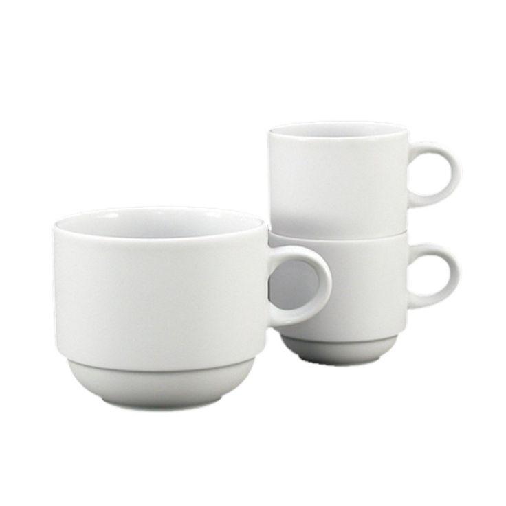 Fortessa Fortaluxe SuperWhite Vitrified China Dinnerware, Cassia 3-Ounce Stackable Espresso Cup, Set of 6
