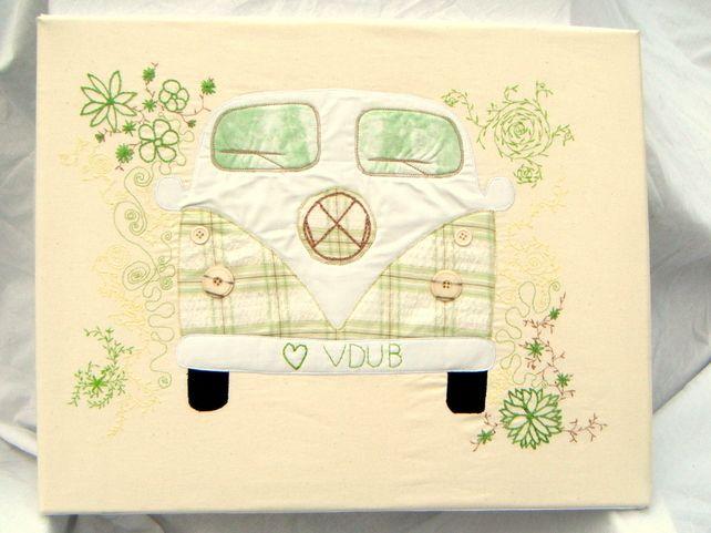 Campervan Textile Art £45.00  Love V DUB