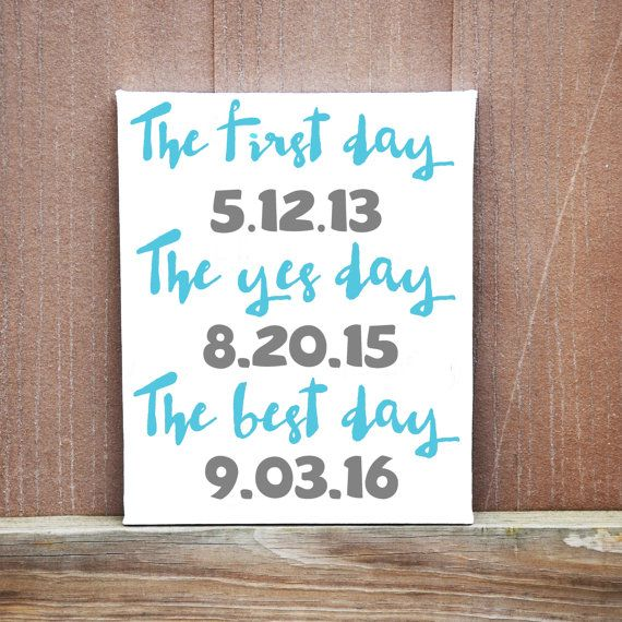 Personalized Date Wedding Canvas Best Day by LittleDoodleDesign #danishandmadewedding