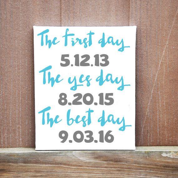 Personalized Date Wedding Canvas Best Day by LittleDoodleDesign #danishandmadewedding