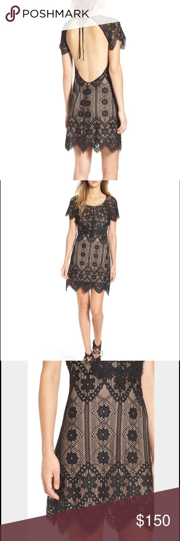 For Love and Lemons RARE Lyla Dress Nordstrom Super rare FOR LOVE AND LEMONS Lyla Lace Mini Dress for Nordstrom Size SMALL. Never worn.  Brand new with tags still attached!  Details: Pretty eyelash lace gets a flirtatious update on a daringly slim-fitting dress with sheer cap sleeves and a skin-flaunting cutout in back.  Back tie closure. Scooped neck. Short sleeves. Lined. 85% nylon, 15% polyester. Dry clean. By For Love & Lemons; imported. For Love and Lemons Dresses Mini