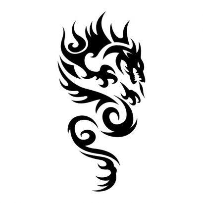 Tribal Dragon Tattoo design idea