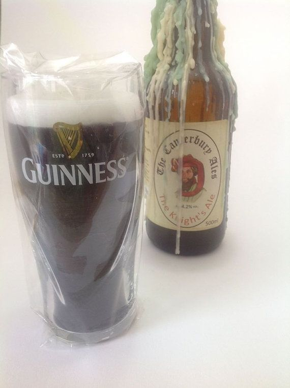 Guiness candles  1/2 pint Guiness glass candles  by artofcandles