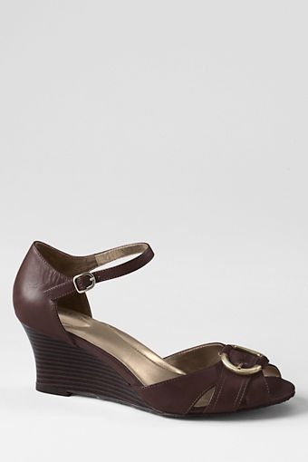 Elizabeth Buckle Sandal. These look so elegant and feel great.  I'll be walking up the steps and into the Versace Mansion in these babies!: Shoes, Sandals, Elizabeth Buckle, Products, Women S Elizabeth, Land'S End