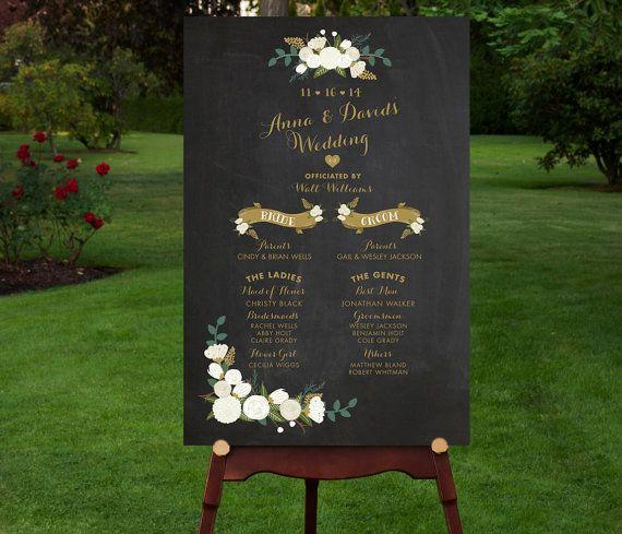 Custom Printable Wedding Program Sign // by RememberNovemberInc